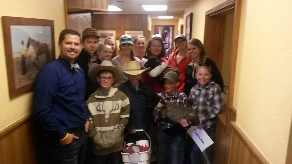 Geoff Petis of Petis Law and Cindy Ptach of Sharp, Steinke, Sherman & Engle had a fun visit from the Routt County Livestock Judging Team and baby lambs. Thanks Kids, you guys are great!