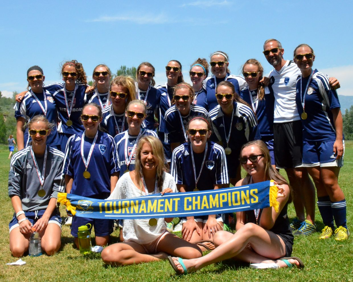 Steamboat Soccer Club U19G win their division in the Steamboat Mountain Soccer Tournament beating Real 2-0. Submitted by: Jan DePuy