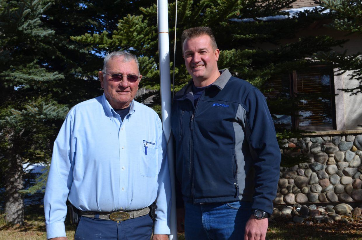 Steamboat Springs native and U.S. Navy veteran Mike Arroyo, left, completed three tours in Vietnam between 1966 and 1969. His son-in-law Tony Weiss, right, served in the U.S. Army during Operation Desert Storm.