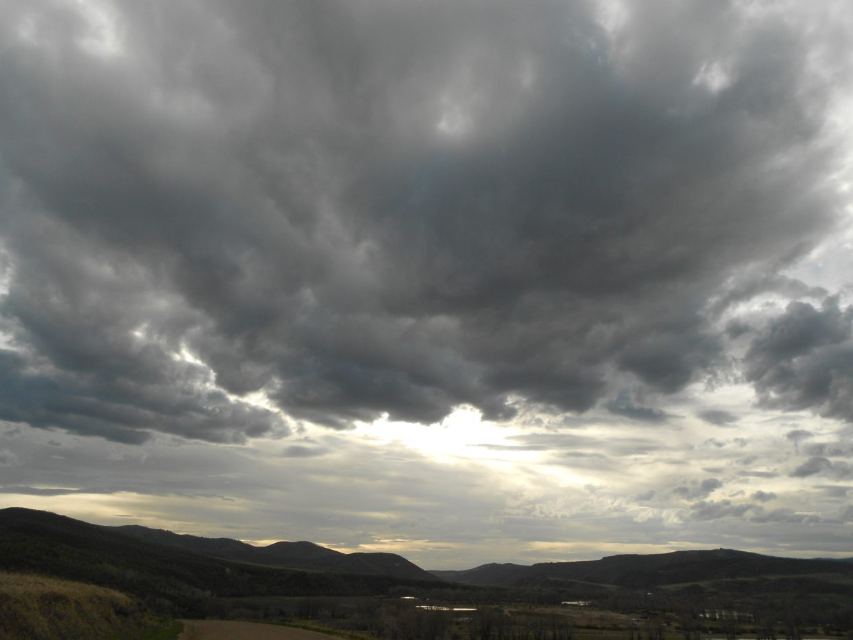 More stormy skies Thursday evening. Submitted by Maryedith Davies