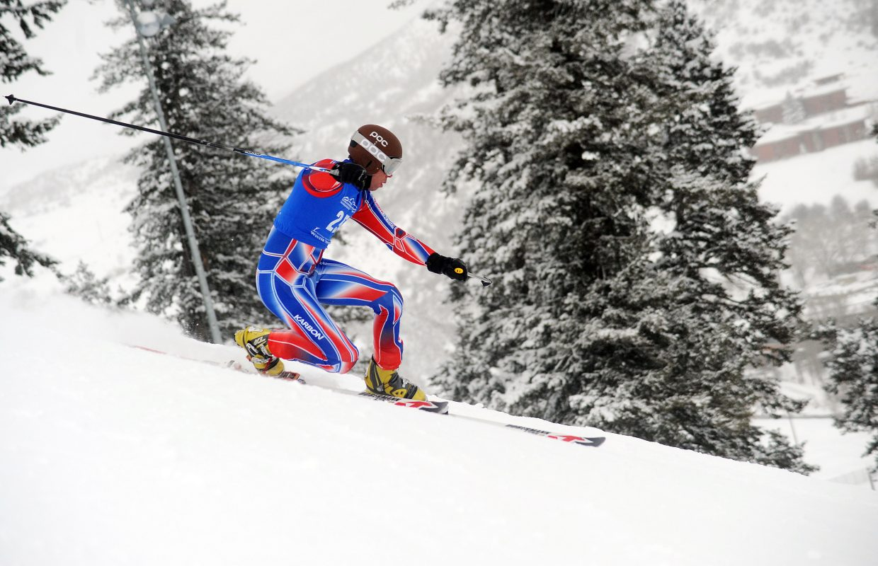 Charlie Dresen skis Friday in a sprint classic Telemark event in Steamboat Springs.