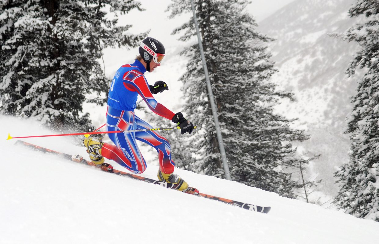 Jeffrey Gay skis Friday in a sprint classic Telemark event in Steamboat Springs.