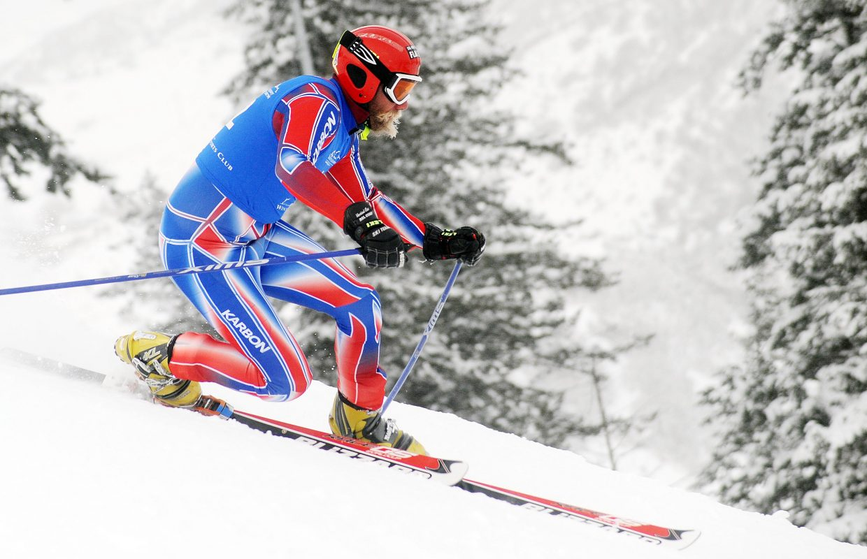 Shane Anderson skis Friday in a sprint classic Telemark event in Steamboat Springs. Anderson won the event.