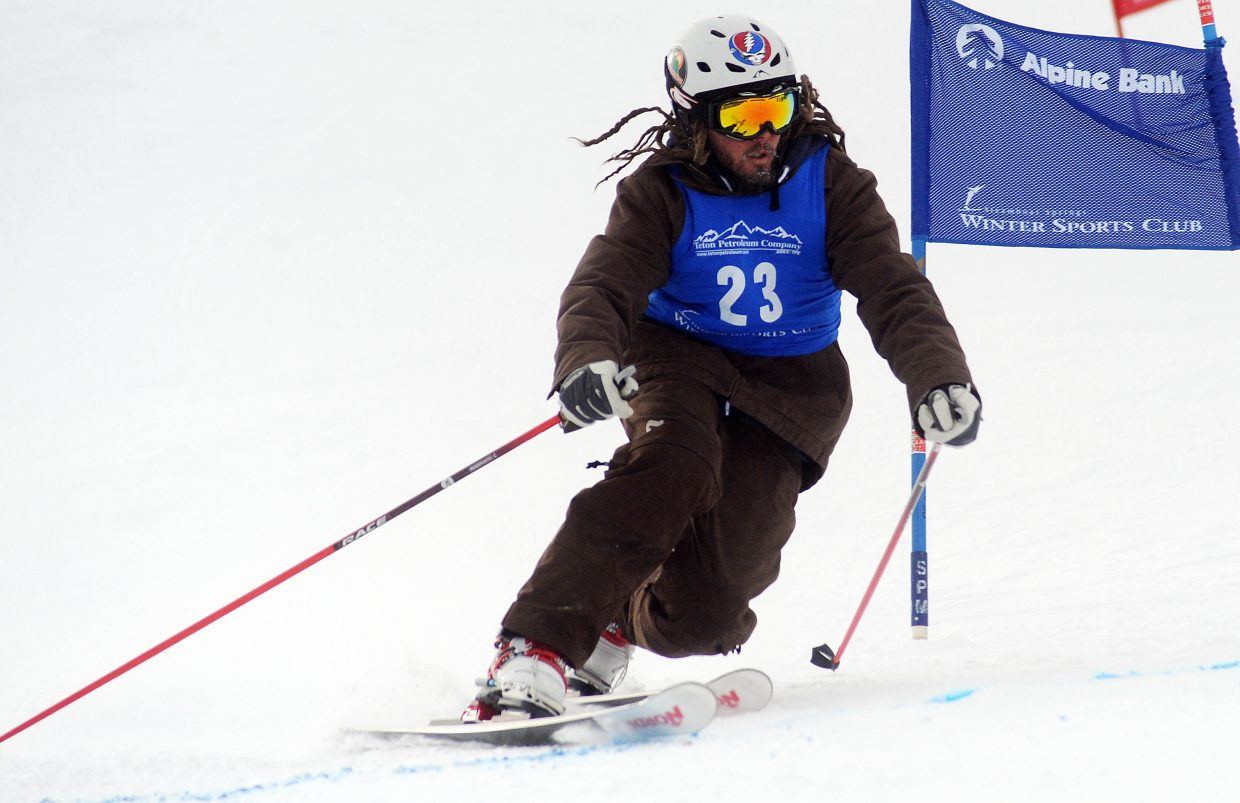 Max Shefte-Jacobs skis Friday in a sprint classic Telemark event in Steamboat Springs.