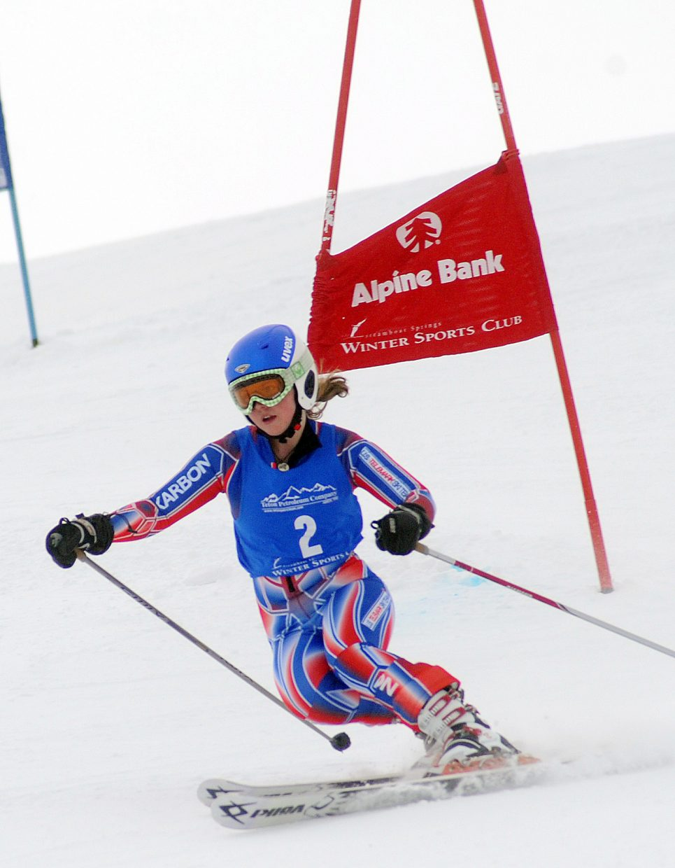 Katie Ross skis Friday in a Telemark race in Steamboat Springs.