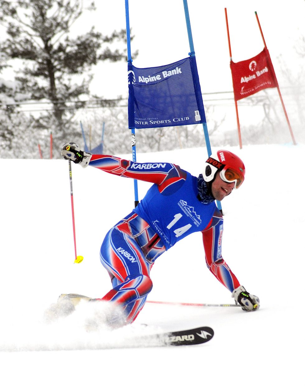 Cory Snyder skis Friday in a sprint classic Telemark event in Steamboat Springs.