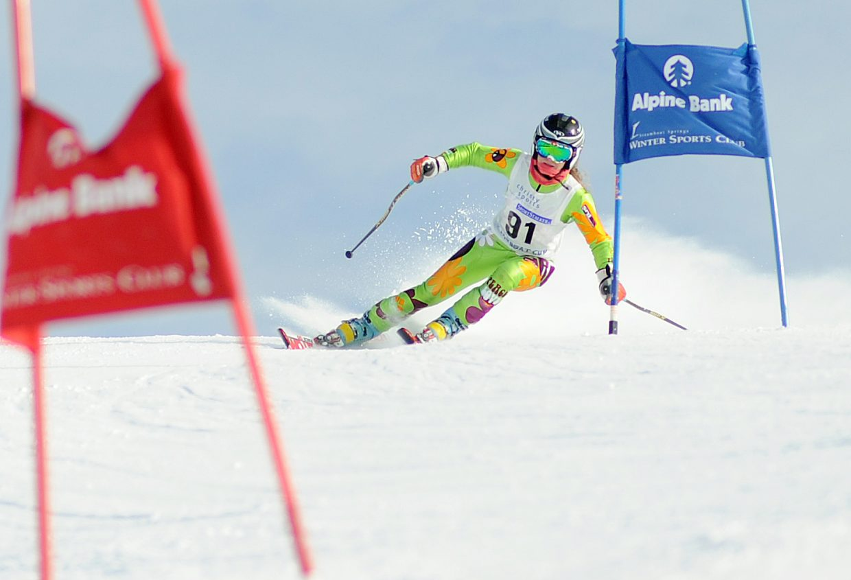 Sawyer Grander races Sunday in a Steamboat Cup event in Steamboat Springs.