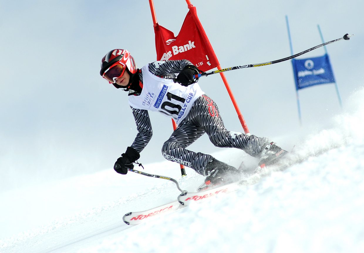 Bryan Gilbertson skis Sunday in a Steamboat Cup event.