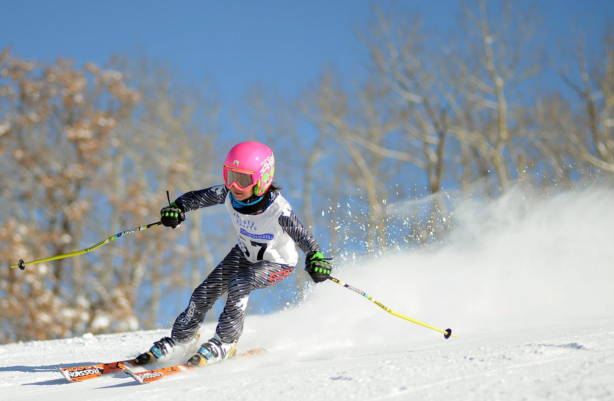Dora Ryan skis Sunday in a Steamboat Cup event in Steamboat Springs.