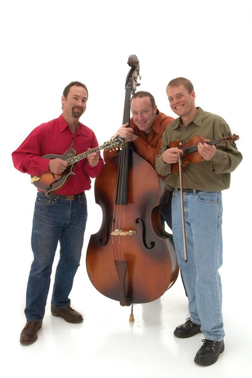 Brother Mule, an acoustic bluegrass trio, plays an intimate show Monday at First String Music. Tickets are $15, and the show starts at 7:30 p.m.