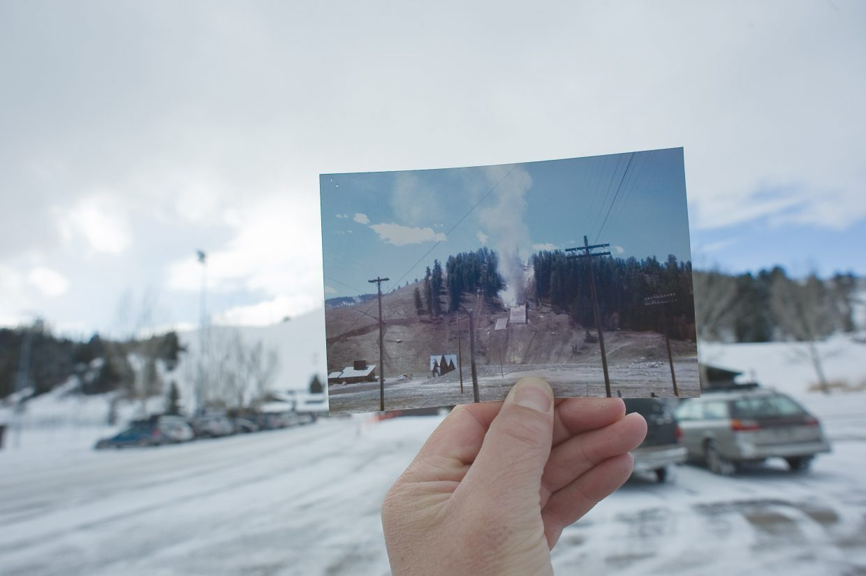 """Remember when the ski jump at Howelsen Hill was set on fire in 1972 in protest of Denver's Olympic bid? In November of that year, Colorado voters turned down the 1976 winter games by a 59.4 percent majority. This photo is courtesy of DJ Edwards. Email your """"Remember When?"""" submissions to share@SteamboatToday.com."""