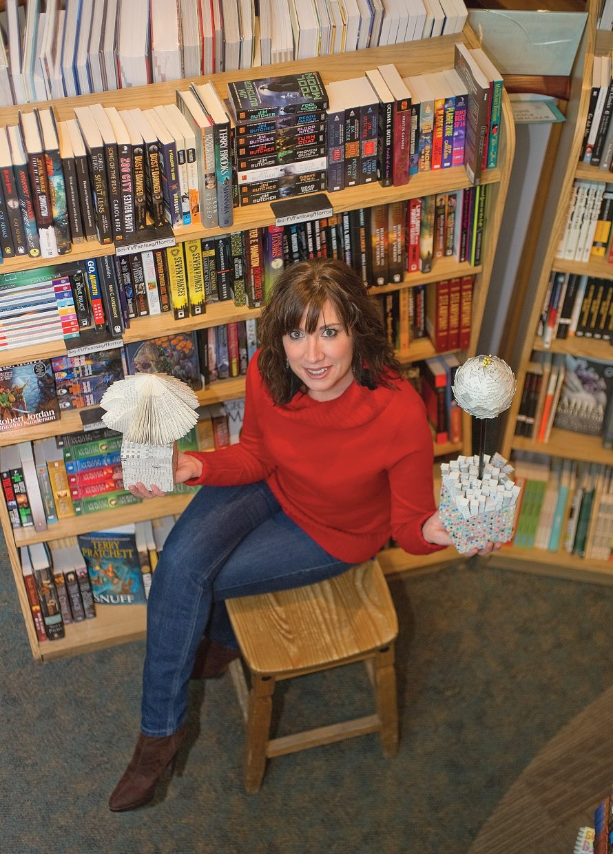 Local artist Kim Keith is turning books into works of art in her most recent show. Keith has found a new use for the printed word and is turning books into creative 3-D sculptures.