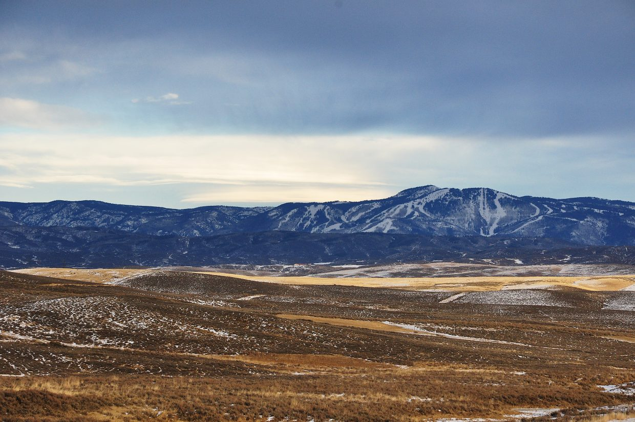 The mountains surrounding Steamboat Springs are forecasted to receive 5 to 10 inches of snow Monday. Snowpack in the Yampa Valley is well below normal levels.
