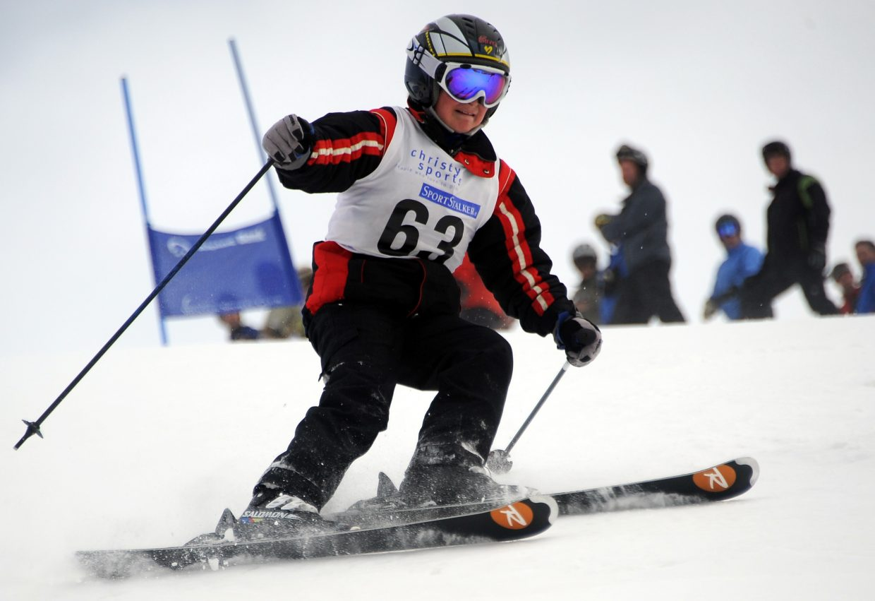 Luke St. John skis on Sunday in the Steamboat Cup.