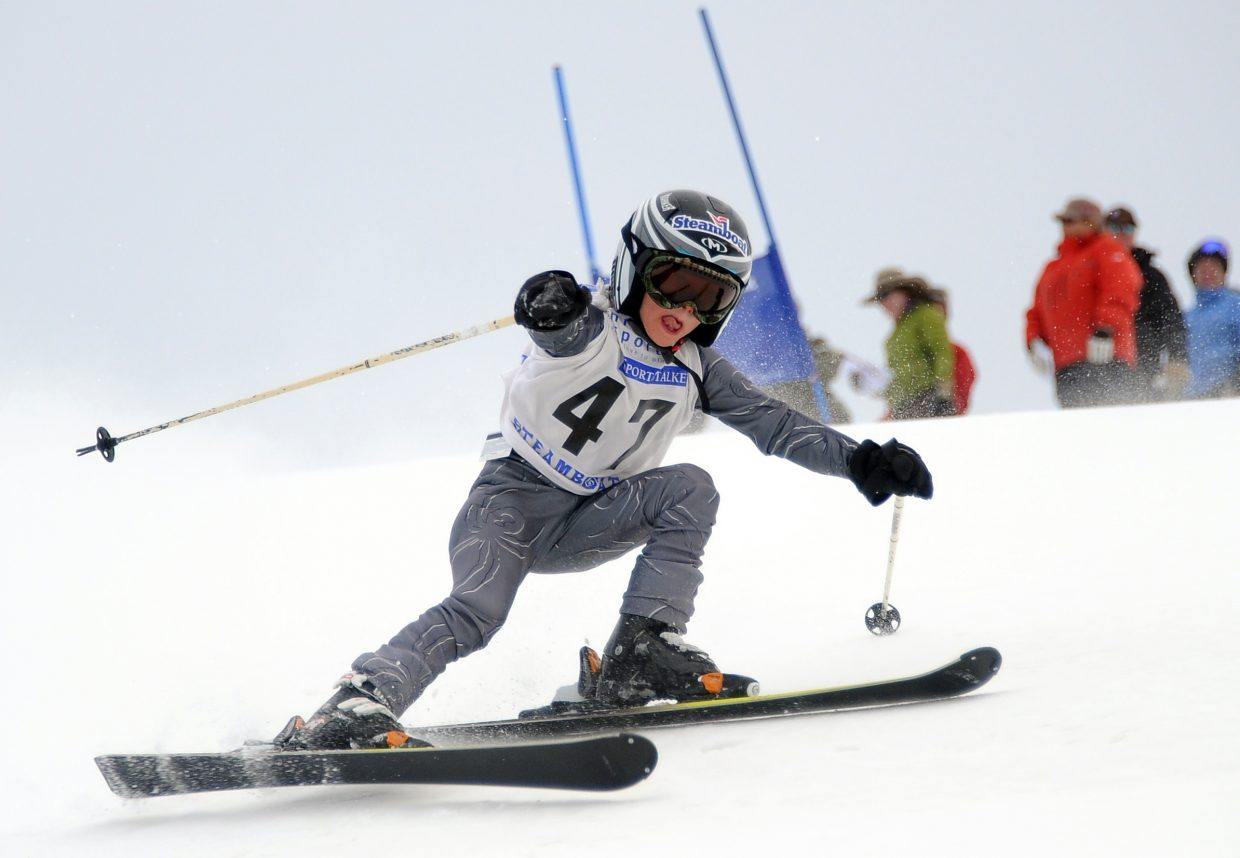 Colin Kagan skis Sunday in the Steamboat Cup.