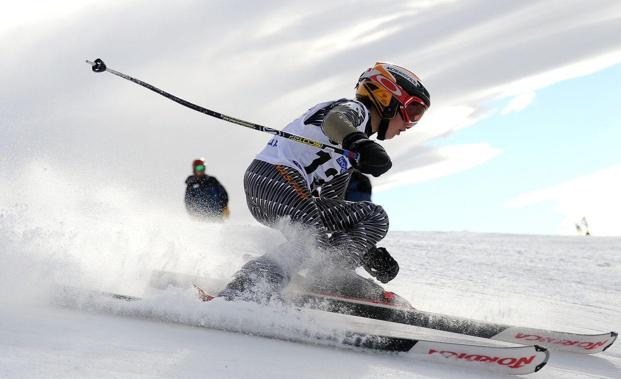 Bryan Gilbertson skis Sunday in the Steamboat Cup.