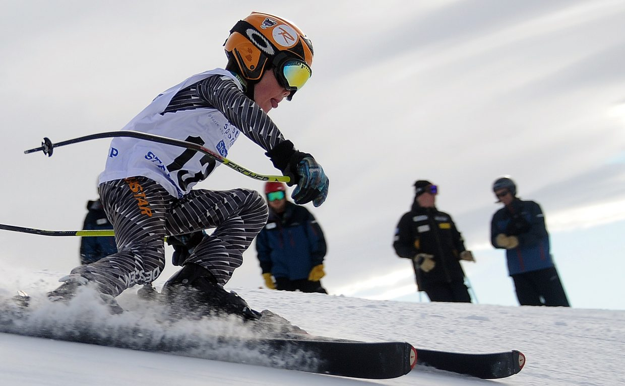 Anders Brockway skis Sunday in the Steamboat Cup.