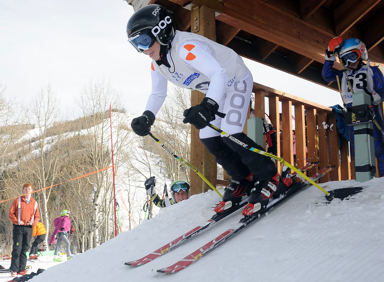 Beck Kuhlman skis Sunday in the Steamboat Cup.
