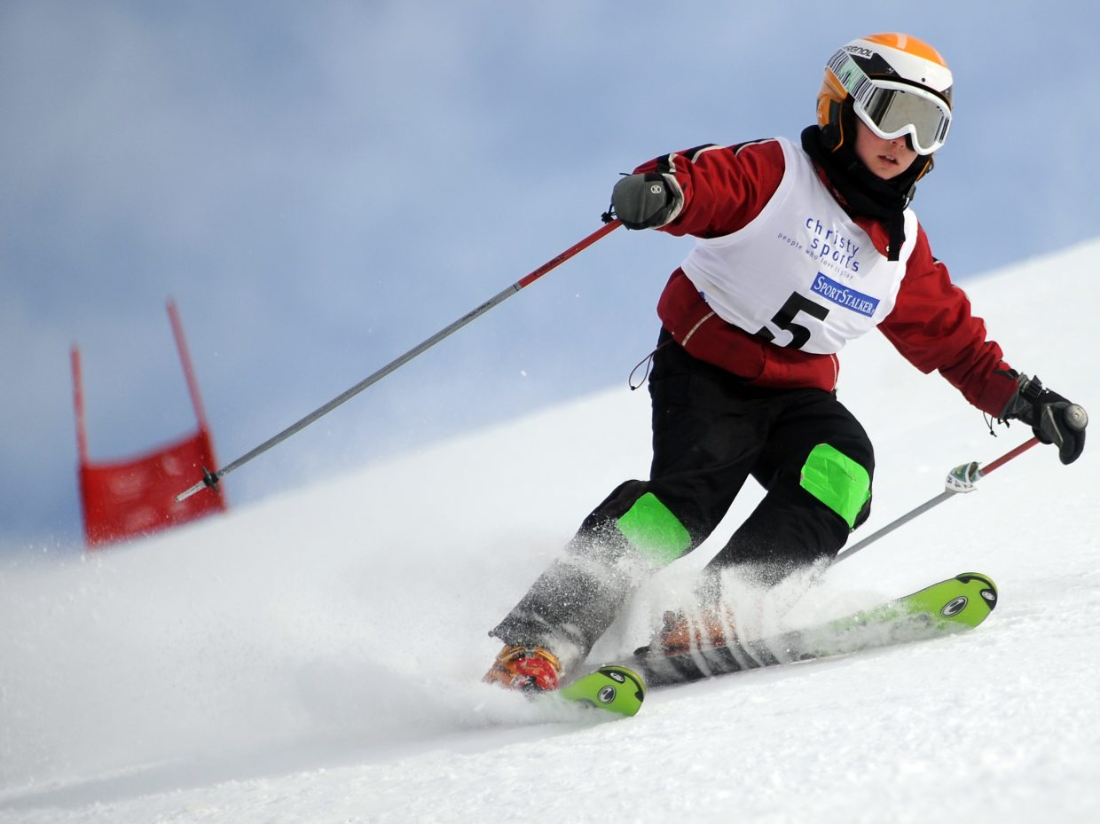 Natasha Curzon skis on Sunday in the Steamboat Cup.