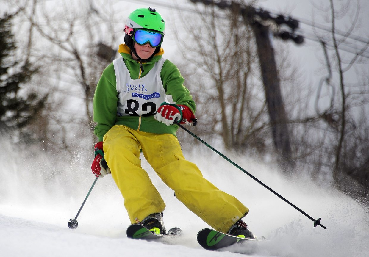 Zachary Cooke skis Sunday in the Steamboat Cup.