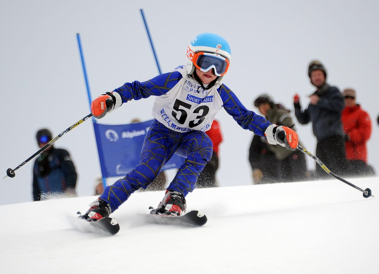 Max Rotermund skis on Sunday in the Steamboat Cup.