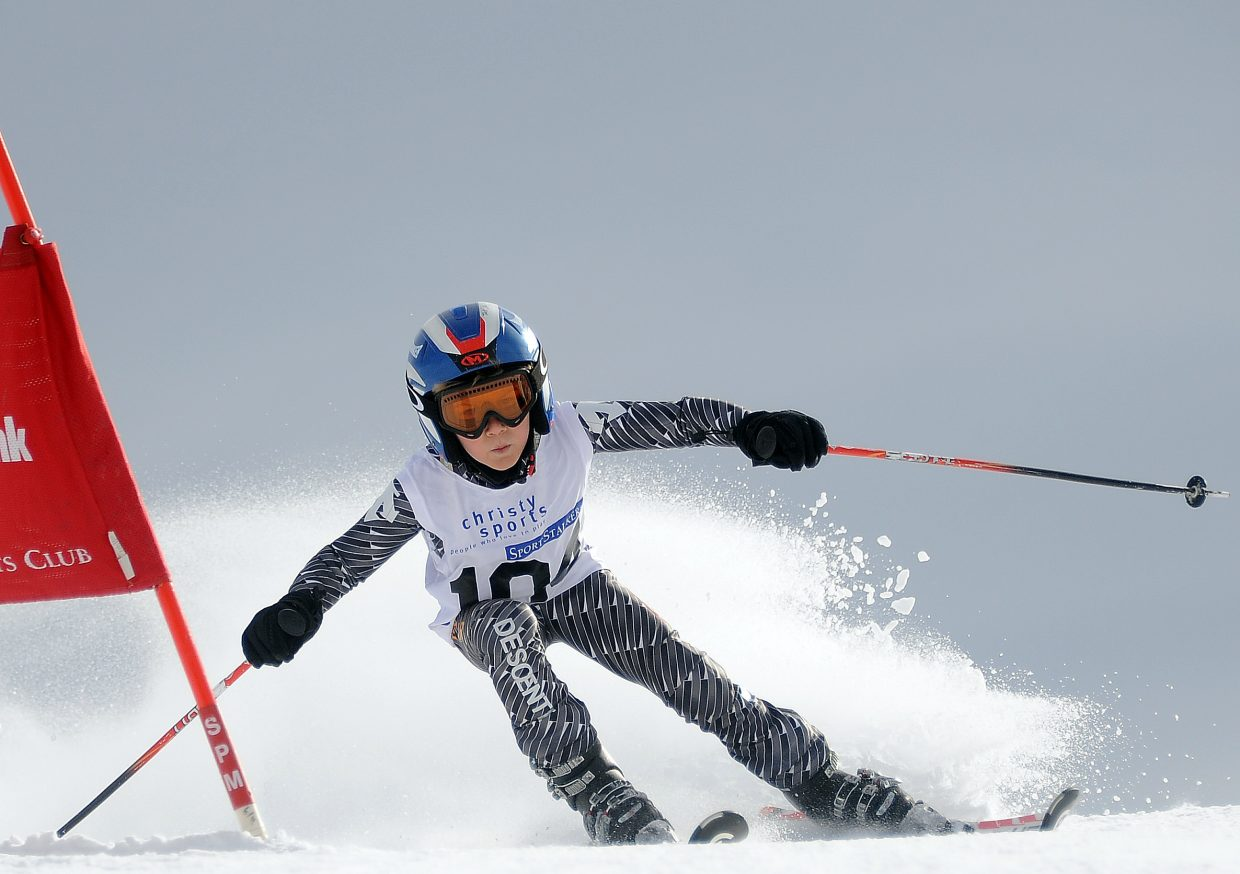 Noel Airoldi skis Sunday in the Steamboat Cup.