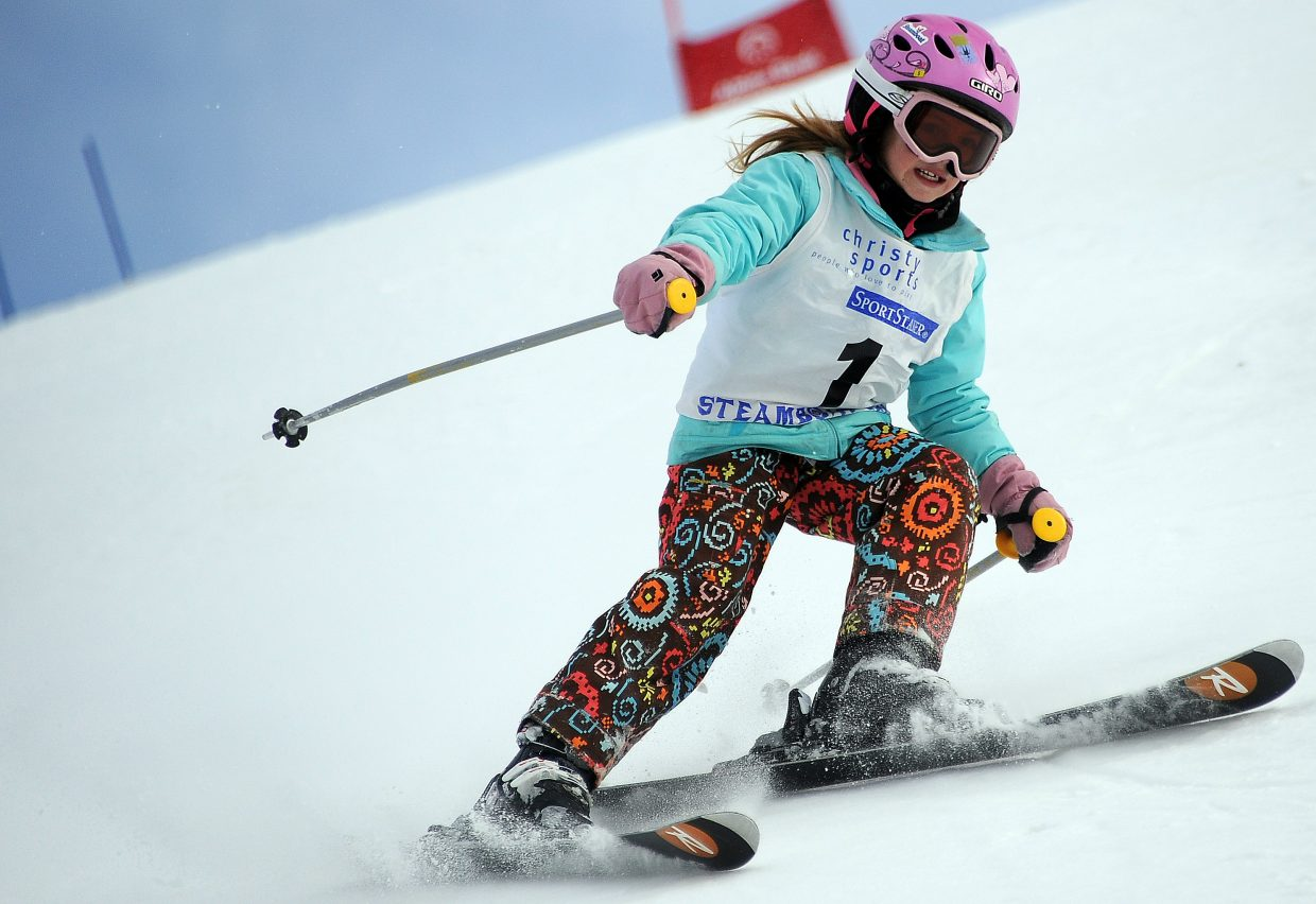 Sydney O'Hare skis on Sunday in the Steamboat Cup.