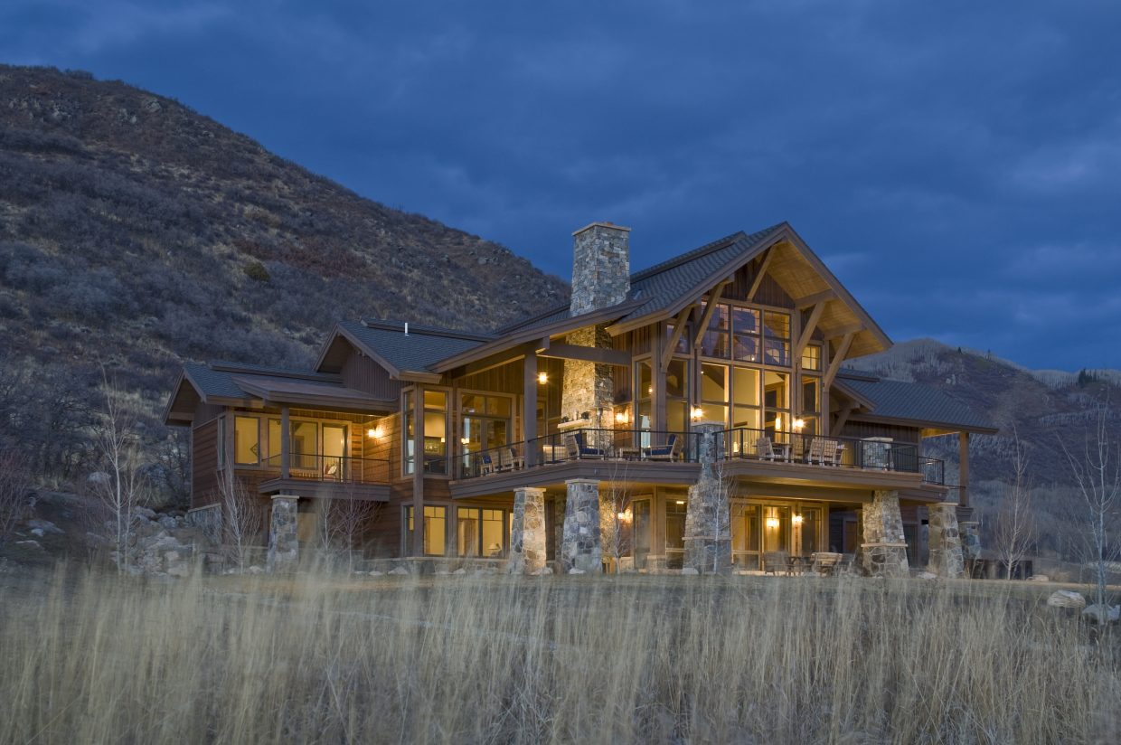 Steamboat Architectural Associates designed the Scully home in Elkins Meadows. Some local firms are doing work outside Colorado during the slump in Routt County.
