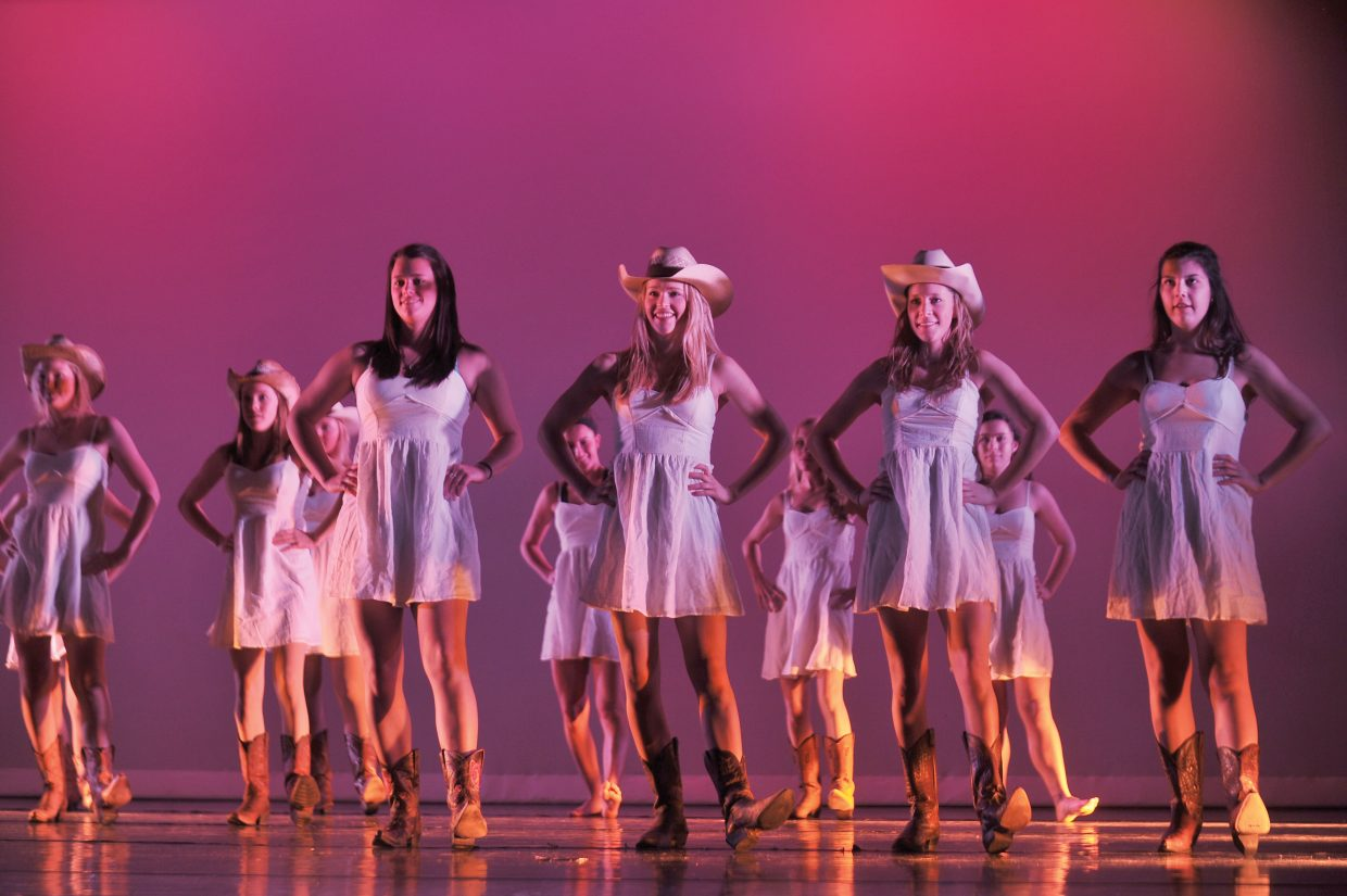 Dancers perform in a dress rehearsal for this year's Dance Showcase, which will take place in the Steamboat Springs High School auditorium at 7 p.m. Thursday, Friday and Saturday.