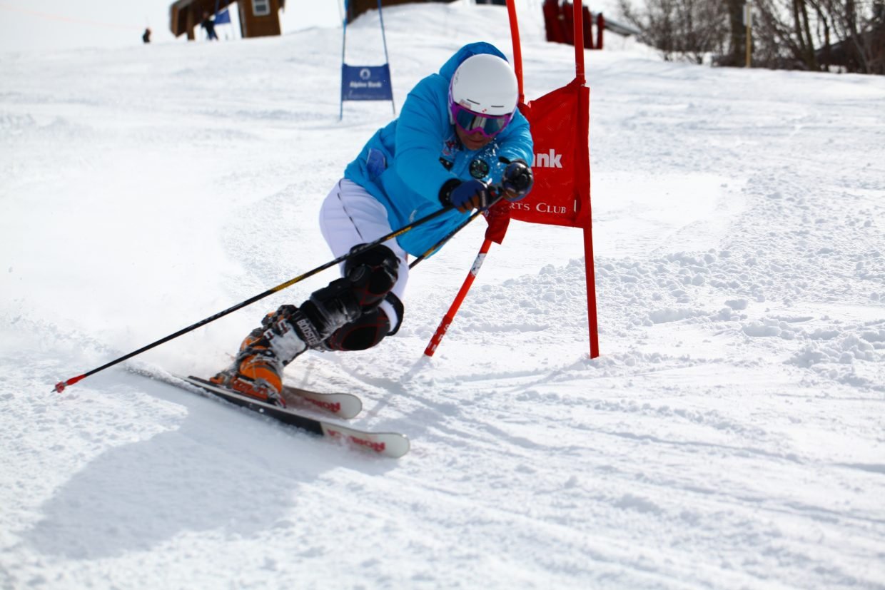 Tommy Gogolen skis down the Telemark World Cup course on Monday at Steamboat Ski Area. Gogolen placed 10th on the first day of the events.