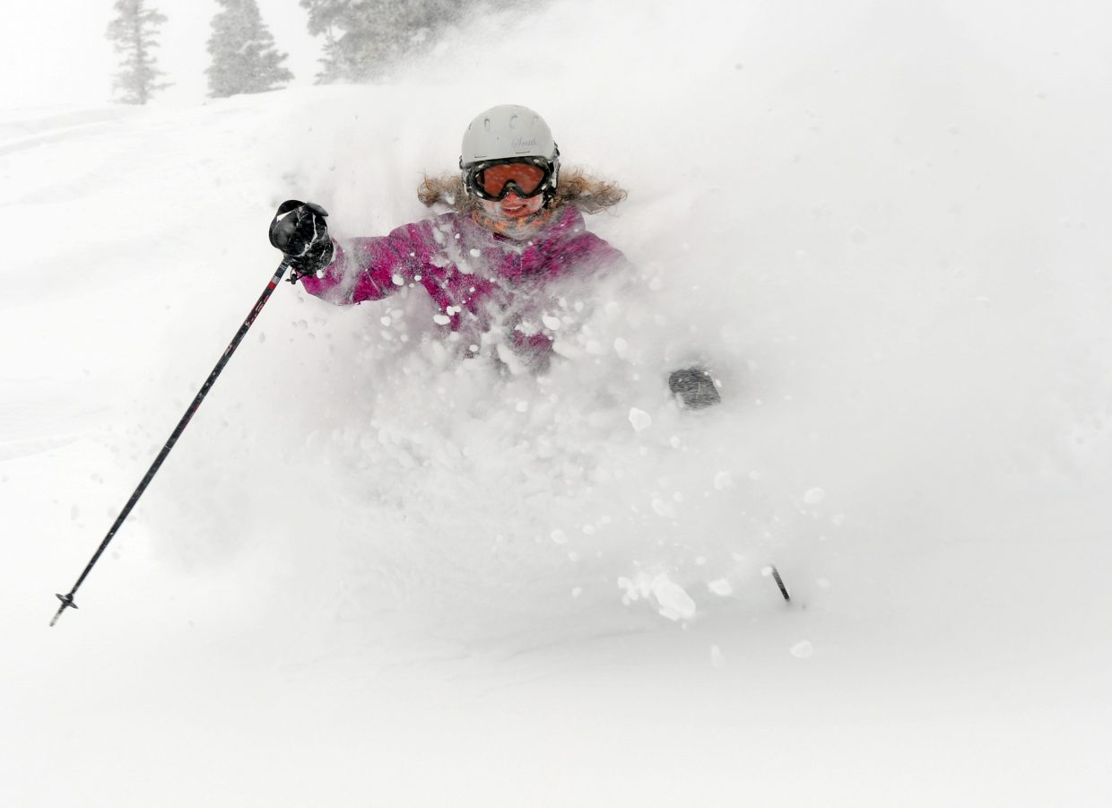 Audrey Williams skis on East Face on Tuesday at Steamboat Ski Area.