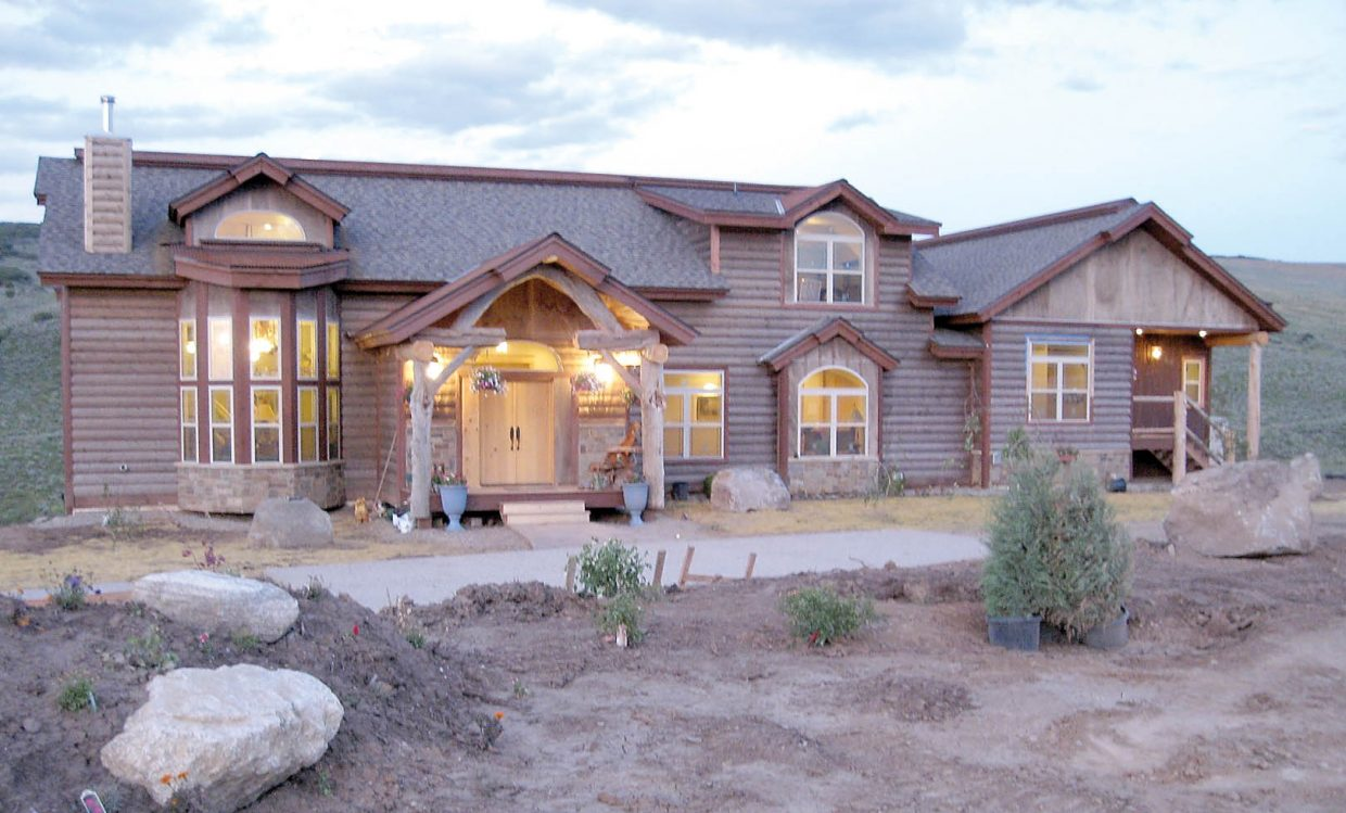 The 2009 home on Trout Creek, between Steamboat Springs and Oak Creek, sits on 35 acres with a horse stable and productive hay land. There's also the live stream with some deep holes where trout hide.
