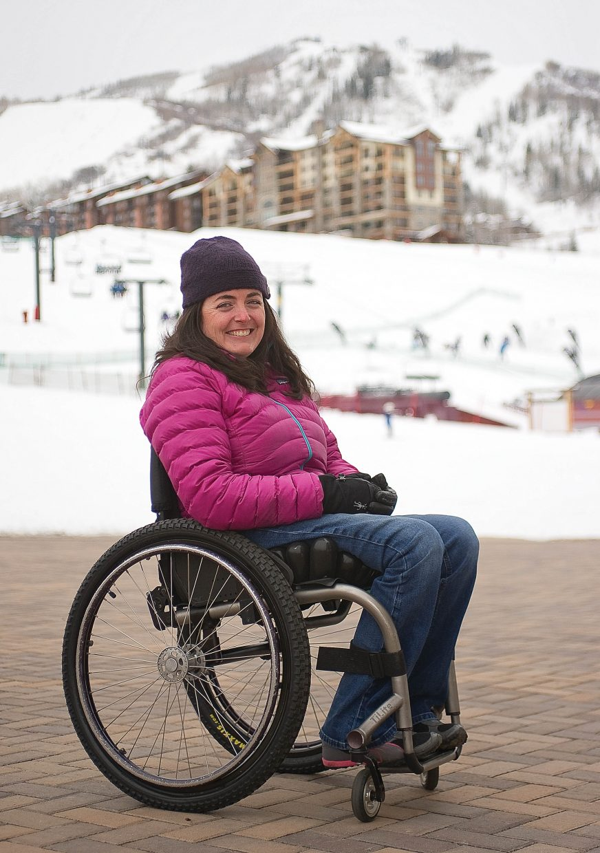 Although a ski accident more than 10 years ago left her paralyzed from the waist down, Rebecca Shephard has kept up an active lifestyle by skiing, waterskiing, biking, swimming, kayaking and rafting.