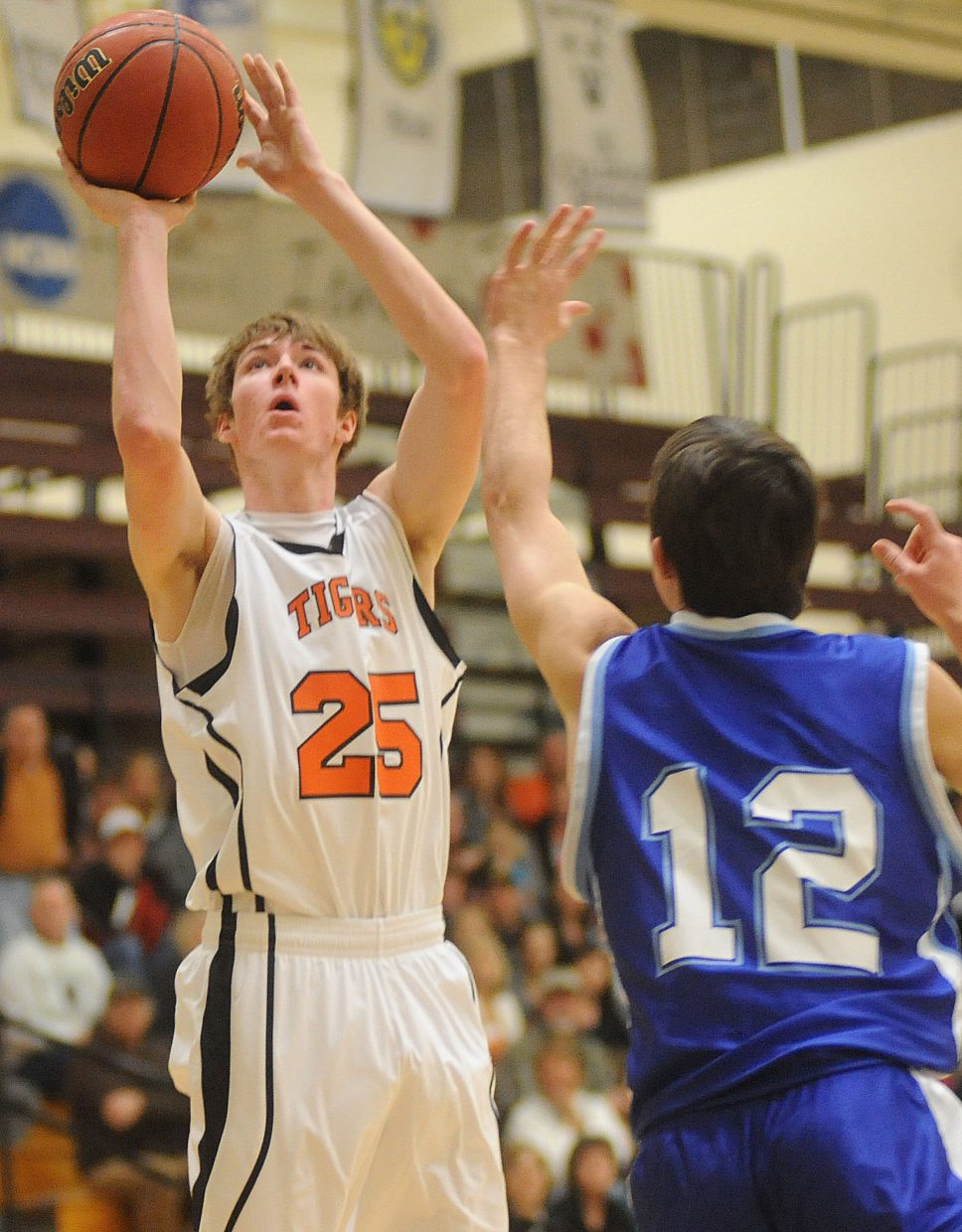 Hayden's Mark Doolin stares down a shot Saturday in the regional championship game in Grand Junction.