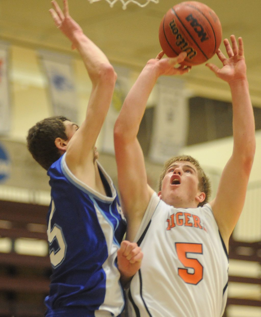 Hayden's Ben Williams puts up a shot Saturday in the regional championship game in Grand Junction.