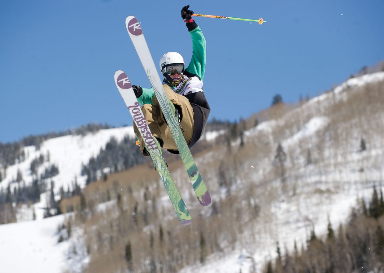 Park City skier Scott Nelson hits the top air during the Freestyle Junior Nationals on Thursday at Steamboat Ski Area.