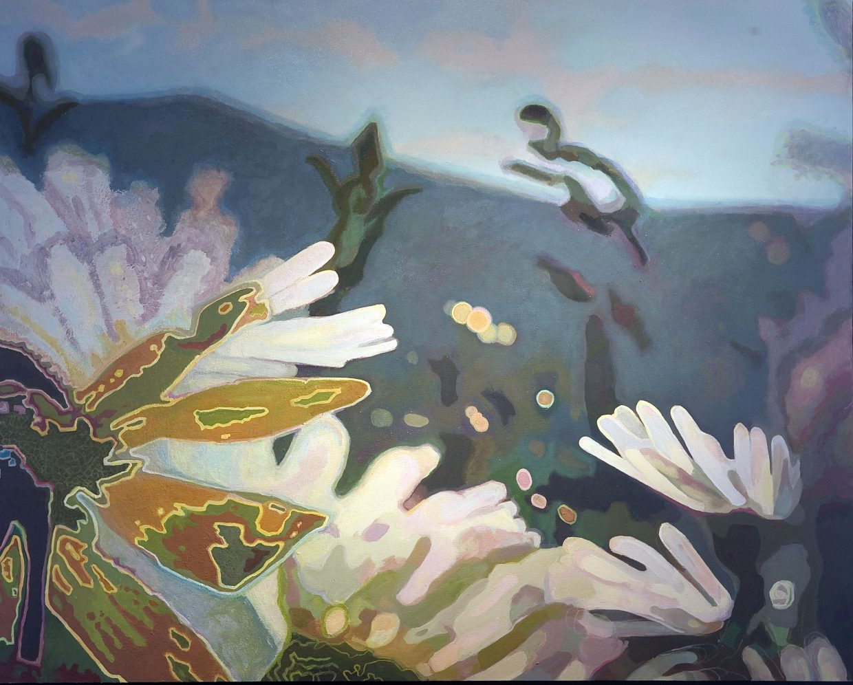 The paintings of local artist Diane Cionni will be on display this month at the RED art gallery.