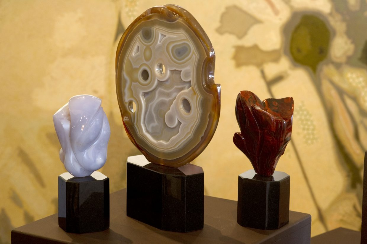 The gem sculptures of Perry Brent Davis will be featured at RED Contemporary this month.