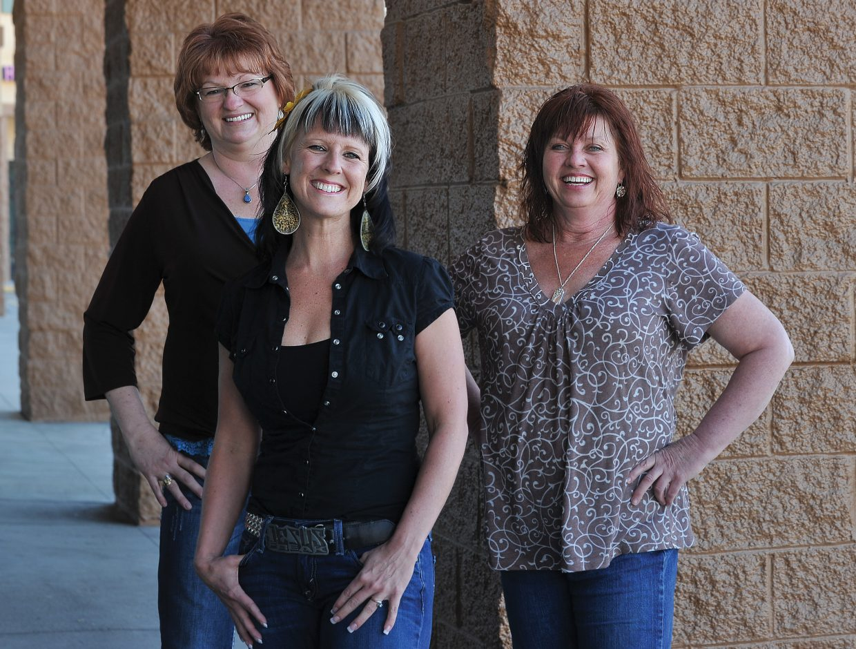 """Paula Lotz, Tara Chavarria and Leslie Bell (shown from left to right) will be featured in """"Stories"""" an event hosted by the Steamboat Christian Center's women's ministry Friday evening"""