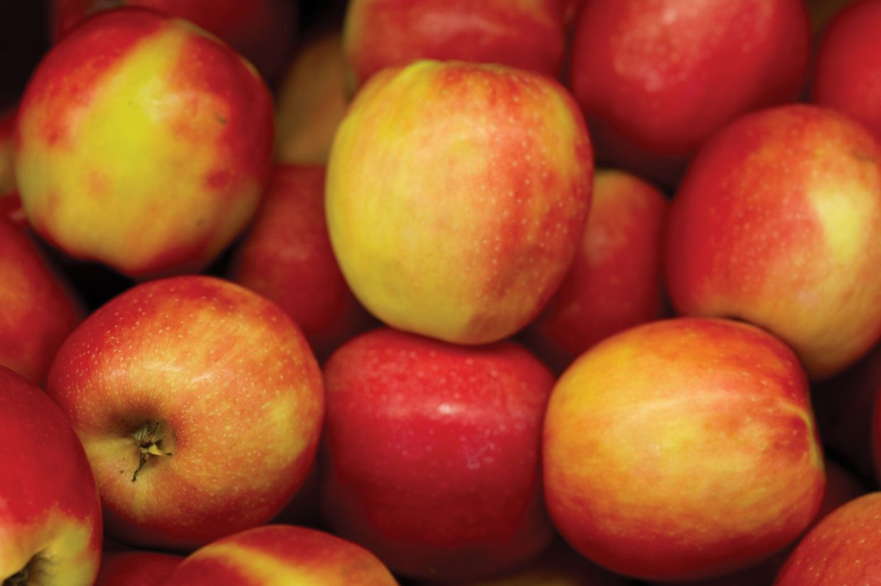 Pink Lady Apples are one of the many natural items available at the Bamboo Market in Steamboat Springs.