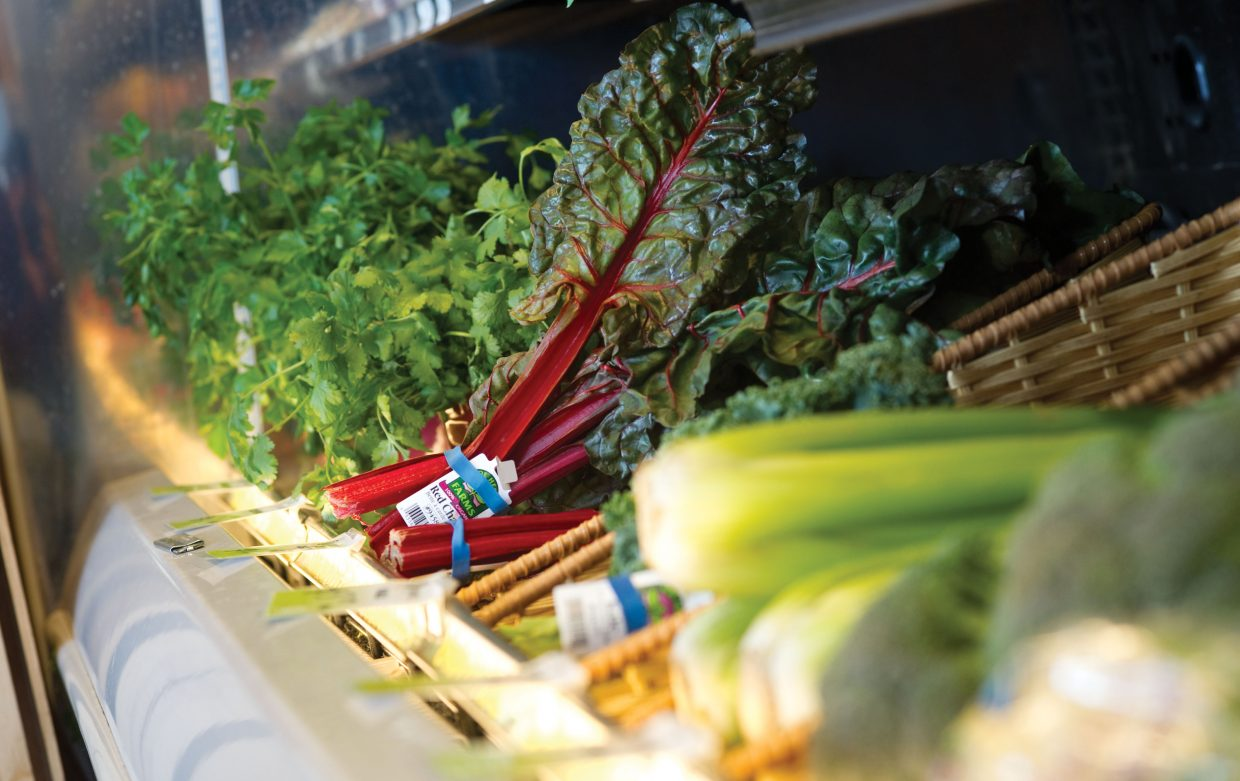 Bamboo Market offers a variety of organic greens for its customers.