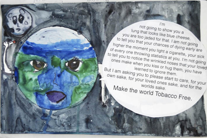 Kick Butts Day poster contest winner submitted by Izzy Mumm at Steamboat Springs High School.