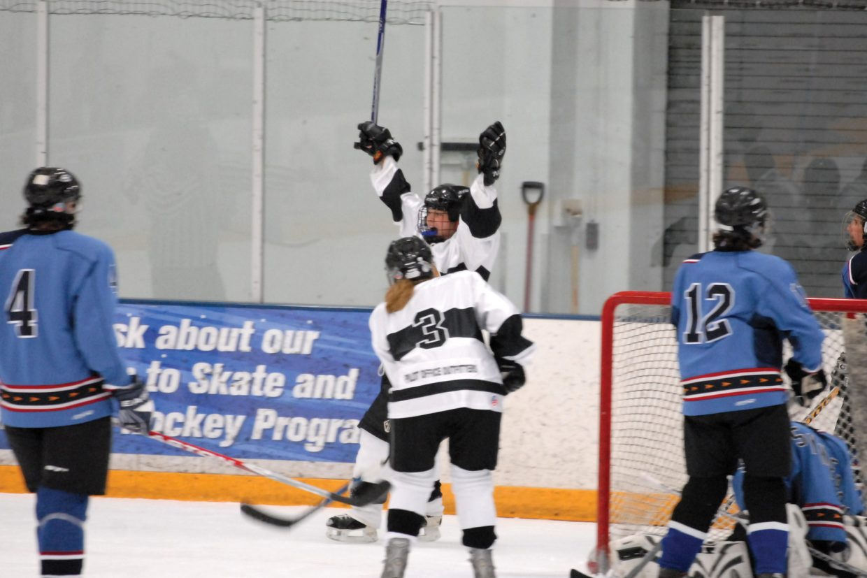 Laura Kalmes, of Chix With Stix, scored a clutch goal against the Denver Synergy on Friday night with nine seconds remaining in the game to win, 1-0. The game was the Steamboat team's first of the WACH A2 women's divisional hockey tournament at Howelsen Ice Arena. The tournament wraps up with playoff games today.