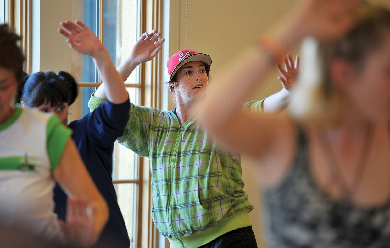 Rhi Gifford takes part in a Zumba class at the Steamboat Springs Community Center on Friday morning. Horizons clients are regulars in many community activities helping clients blend in and become an important part of the community where they live.