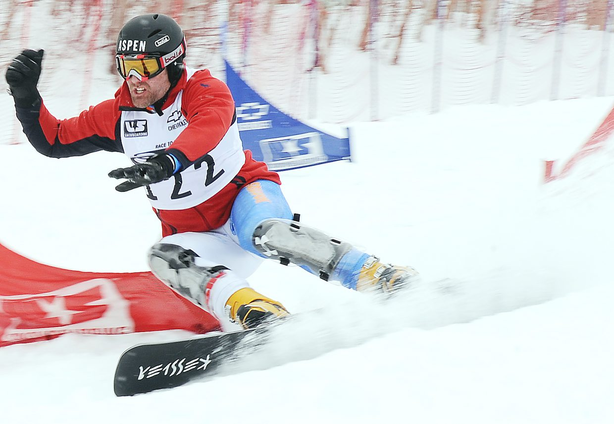 Chris Klug races to his 11th snowboarding national championship, winning Saturday in the NorAm parallel slalom at the Steamboat Ski Area. Klug, a three-time Olympian, said the race and the win marked the end of his competitive career.
