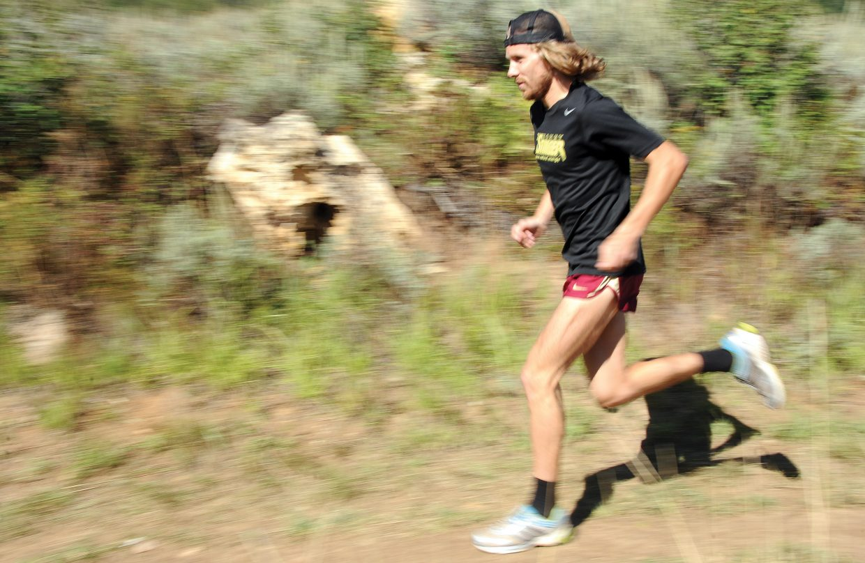 Nick Sunseri flies down a trail on Emerald Mountain late last summer. Sunseri easily won the season-long Steamboat Springs Running Series last year and moved from Steamboat on Thursday, hoping to reach the next step in his running career.