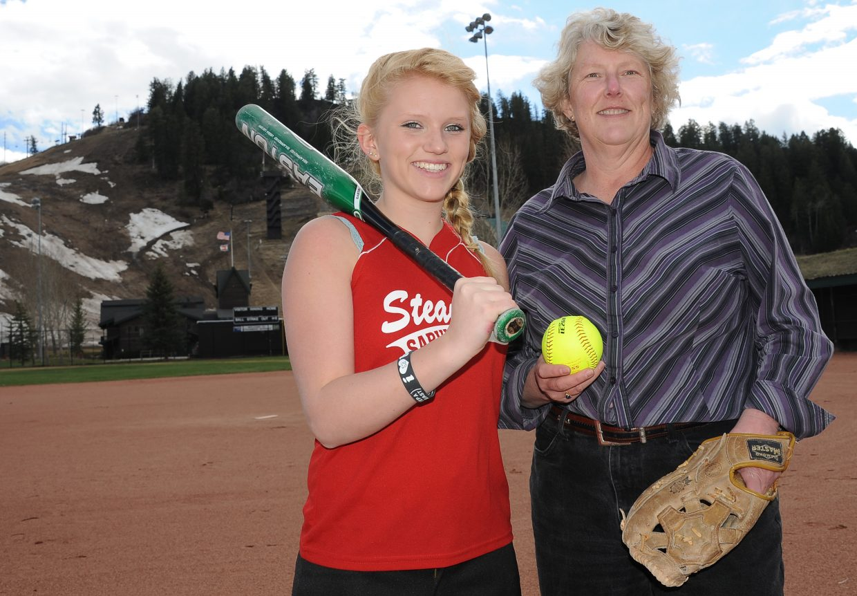Erica Good, 14, and mom and softball coach Laurie Good got into the sport two years ago when it launched in Steamboat Springs.