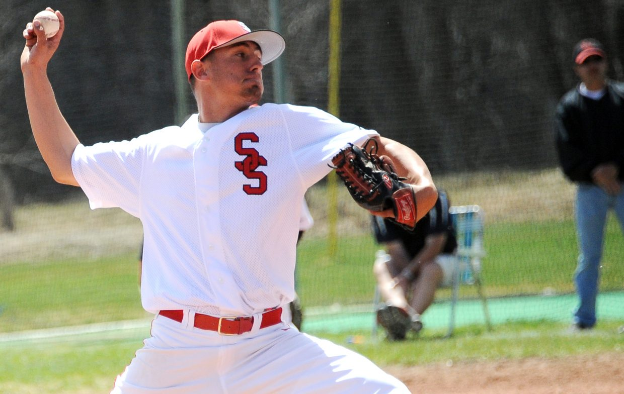 Steamboat's Tyler Brown delivers a pitch on Saturday.