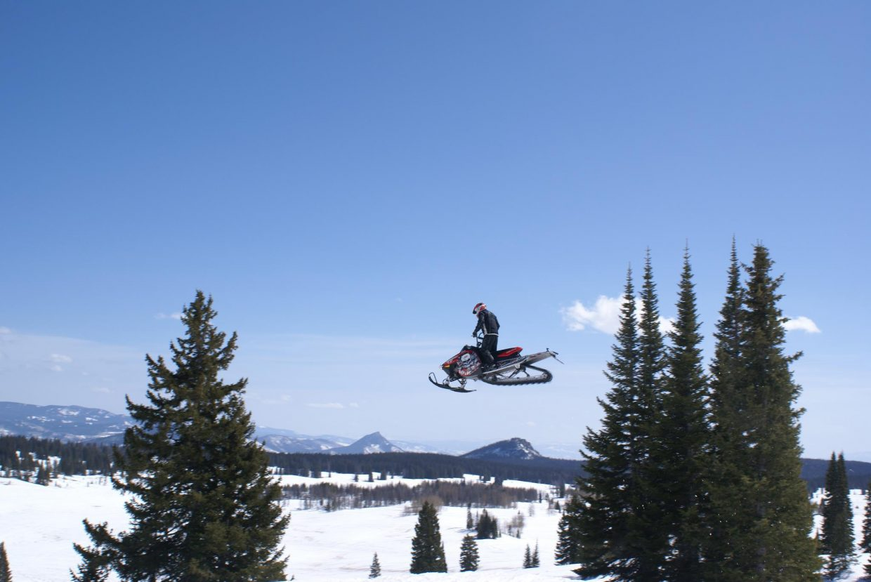 Jonny Buschmann flies high on Rabbit Ears Pass. He said this will be the first year he won't be involved in releasing a winter sports action movie.