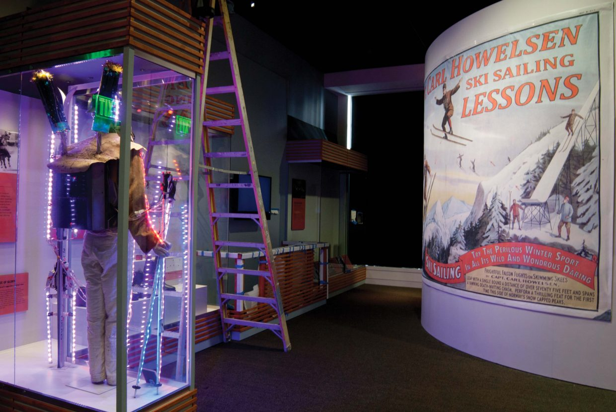 The History Colorado Center works to get an exhibit about Steamboat Springs ready as part of its Colorado Stories exhibit for its public opening on Saturday. The exhibit features a virtual ski jump on Howelsen Hill.